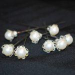 Špendlík 15 bílá perlička 2ks