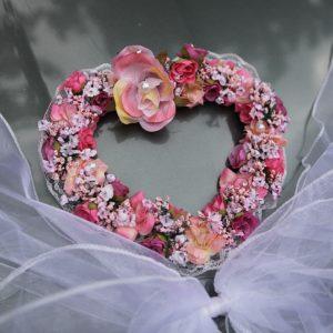 Srdíčko 13 růžové kytičky