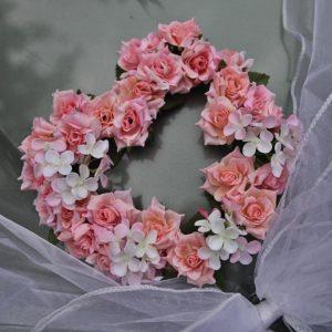 Srdíčko 07 růžovo bílé růžičky