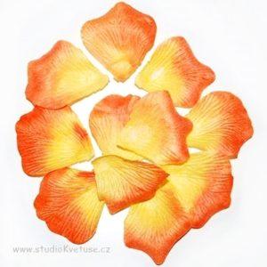 Okvětní plátky růží 015 oranžové