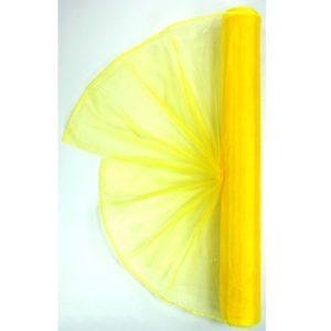 Organza žlutá 006 délka 92cm