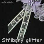 stříbrný glitter a