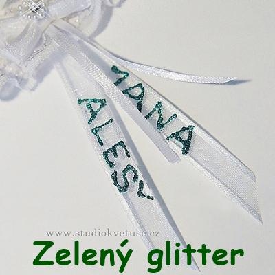 zelený glitter