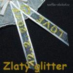 Glitter liner zlatý a