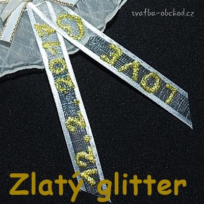 Glitter liner zlatý