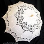 Deštníček bílý 06