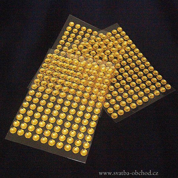 Nalepovací kameny 06 zlaté