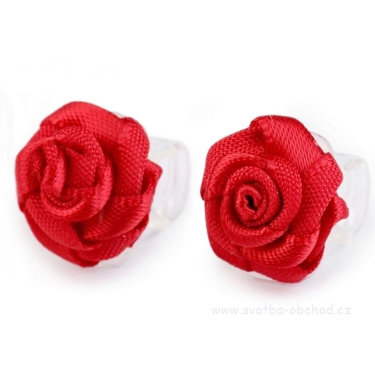 Skřipeček 11 červená růžička - Studio Květuše 65f86e8fd5
