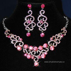 Náhrdelník 082 růžové kamínky