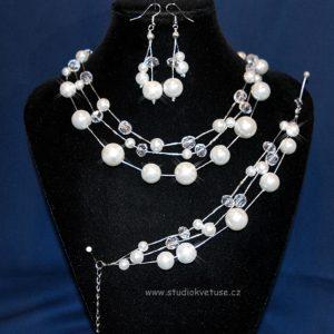 Souprava 397 bílé perličky