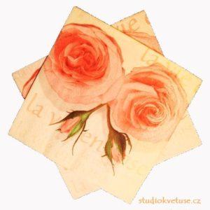 Ubrousky 16 růže 15 kusů