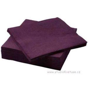 Ubrousky 44 tmavě fialové 20 kusů