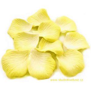 Okvětní plátky růží 001 bílo - žluté