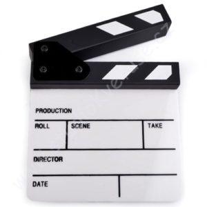 Filmová klapka bílo černá