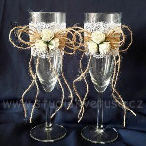 Svatební skleničky na přípitek 01