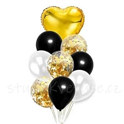 Balonky set - zlatý