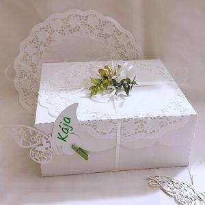 Krabička dortová s obloučky
